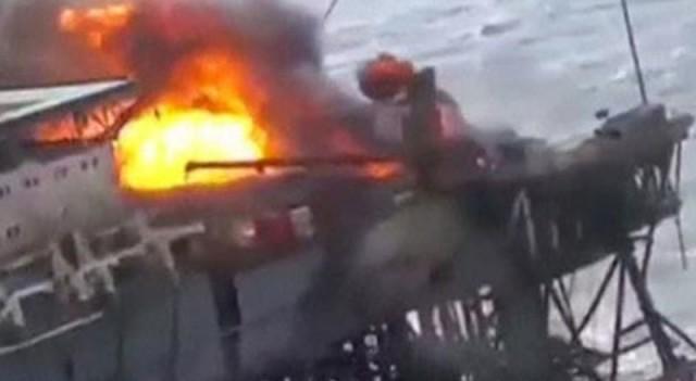 Petrol platformunda yangın! Çok sayıda ölü var...