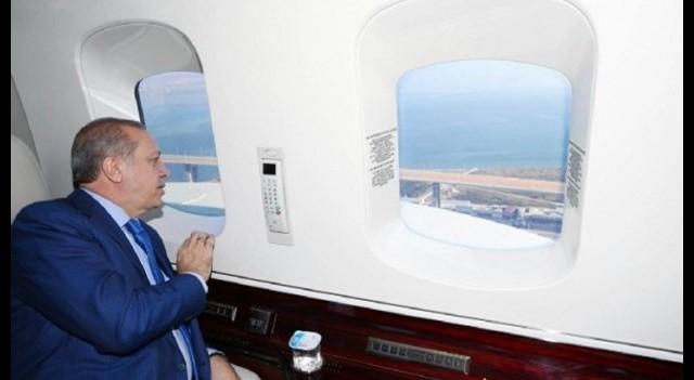 Erdoğan Körfez Köprüsü'nü helikopterle inceledi!