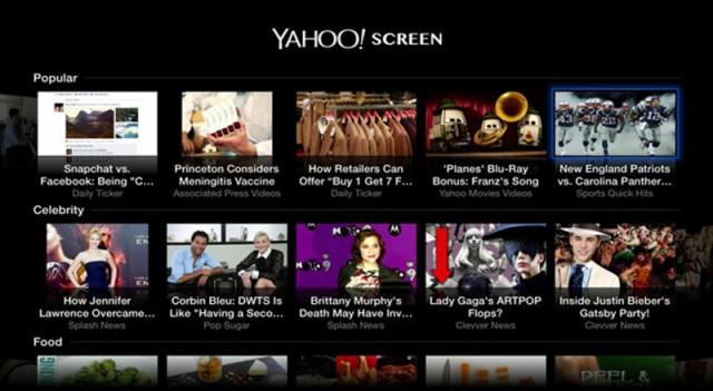 Yahoo Screen uygulaması kapatıldı!