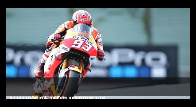 Almanya'da zafer Marquez'in