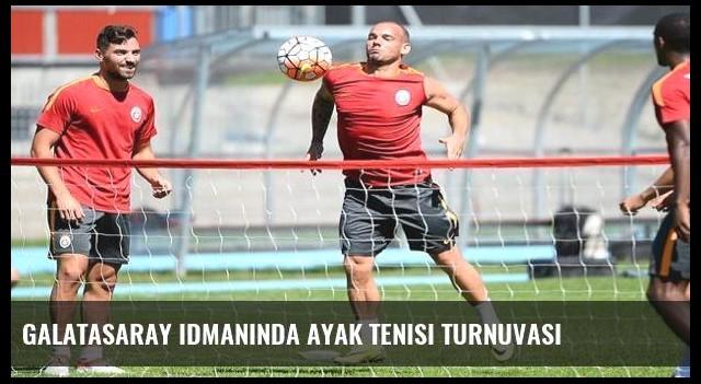 Galatasaray idmanında ayak tenisi turnuvası