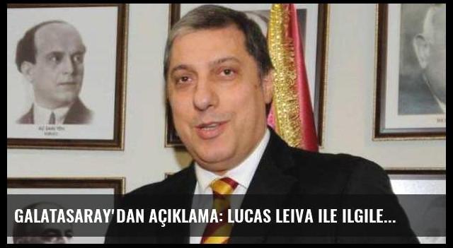 Galatasaray'dan açıklama: Lucas Leiva ile ilgileniyoruz