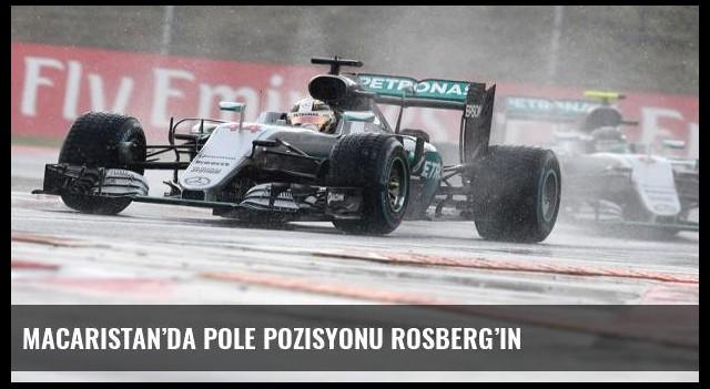 Macaristan'da pole pozisyonu Rosberg'in