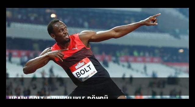 Usain Bolt, birincilikle döndü