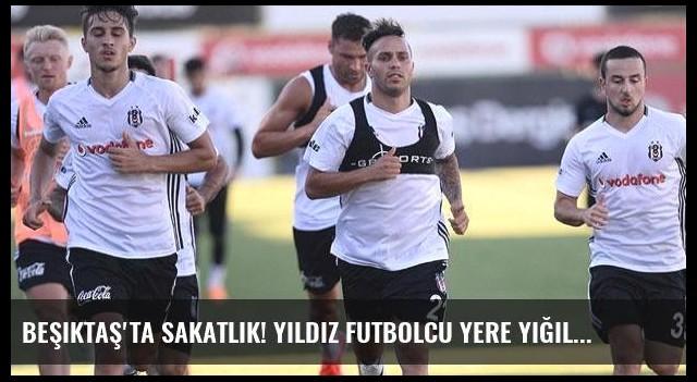 Beşiktaş'ta sakatlık! Yıldız futbolcu yere yığıldı
