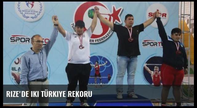 Rize'de iki Türkiye rekoru