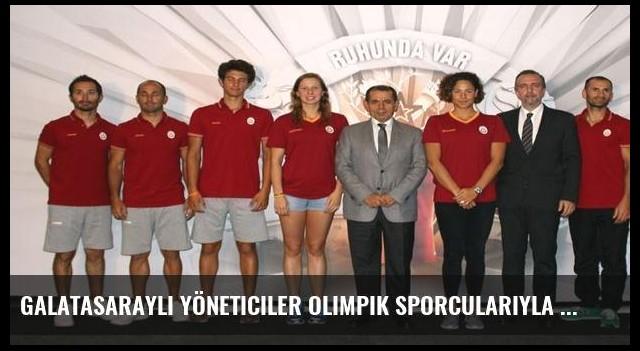 Galatasaraylı yöneticiler olimpik sporcularıyla buluştu