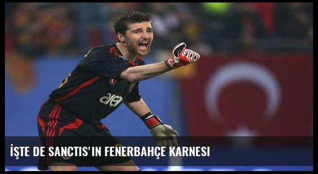 İşte De Sanctis'in Fenerbahçe karnesi