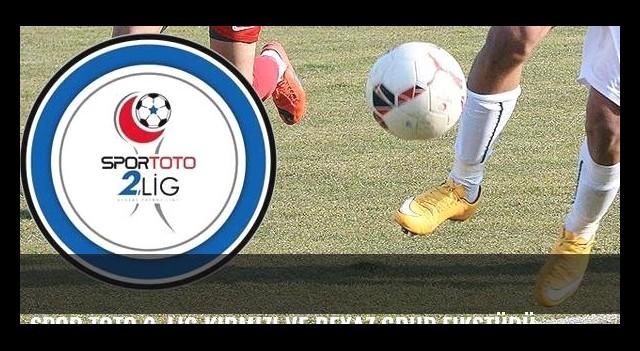 Spor Toto 2. Lig Kırmızı ve Beyaz Grup fikstürü