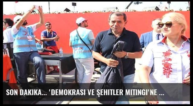 Son dakika... 'Demokrasi ve Şehitler Mitingi'ne futbol ailesi de katıldı
