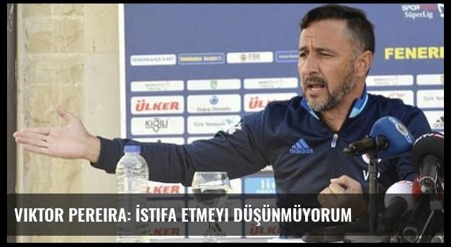 Viktor Pereira: İstifa etmeyi düşünmüyorum