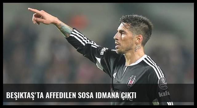 Beşiktaş'ta affedilen Sosa idmana çıktı