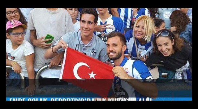 Emre Çolak, Deportivo'da ilk kupasını aldı