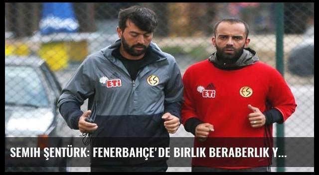 Semih Şentürk: Fenerbahçe'de birlik beraberlik yok