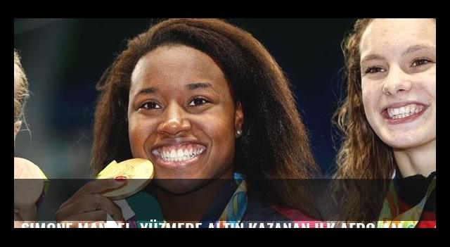 Simone Manuel, yüzmede altın kazanan ilk Afro-Amerikalı sporcu oldu