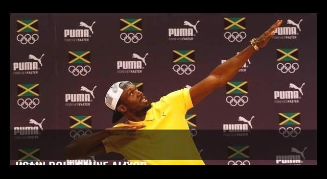 Usain Bolt sahne alıyor