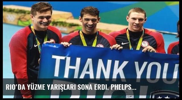 Rio'da yüzme yarışları sona erdi. Phelps...