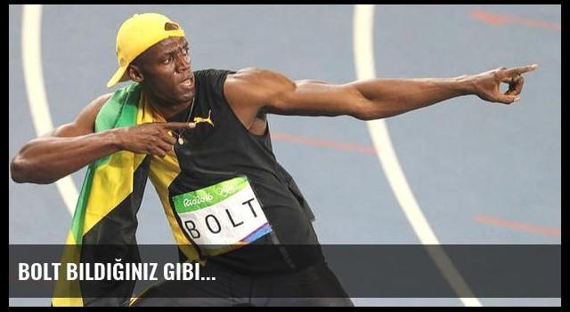 Bolt bildiğiniz gibi...