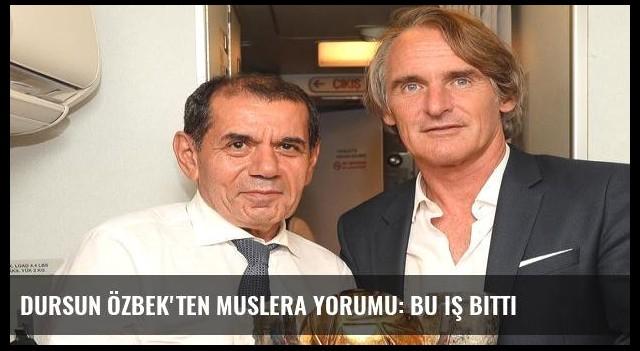 Dursun Özbek'ten Muslera yorumu: Bu iş bitti