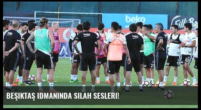 Beşiktaş idmanında silah sesleri!