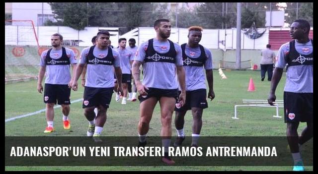 Adanaspor'un yeni transferi Ramos antrenmanda