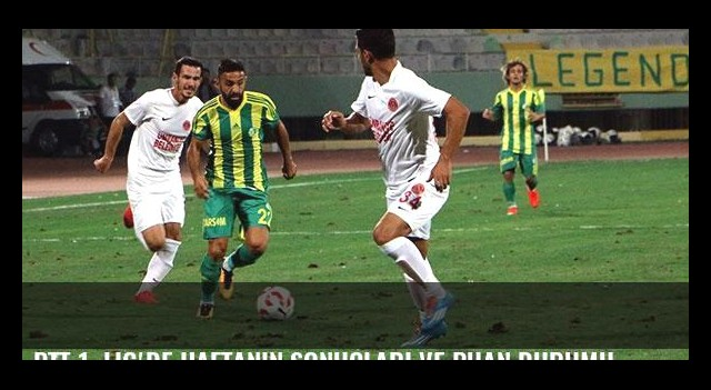 PTT 1. Lig'de haftanın sonuçları ve puan durumu