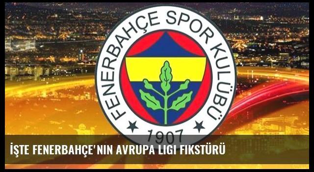 İşte Fenerbahçe'nin Avrupa Ligi fikstürü