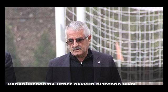 Karabükspor'da hedef Çaykur Rizespor maçı