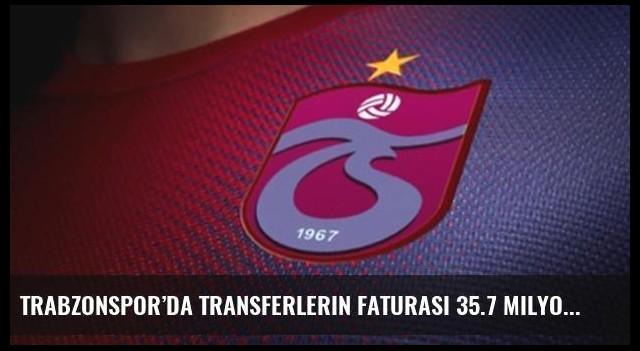Trabzonspor'da transferlerin faturası 35.7 milyon