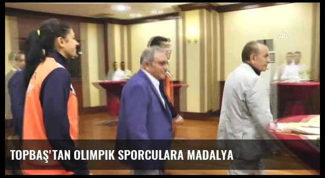 Topbaş'tan Olimpik Sporculara Madalya