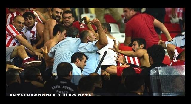 Antalyaspor'a 1 maç ceza