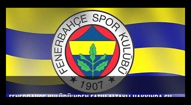 Fenerbahçe Kulübü'nden Fatih Altaylı hakkında suç duyurusu!