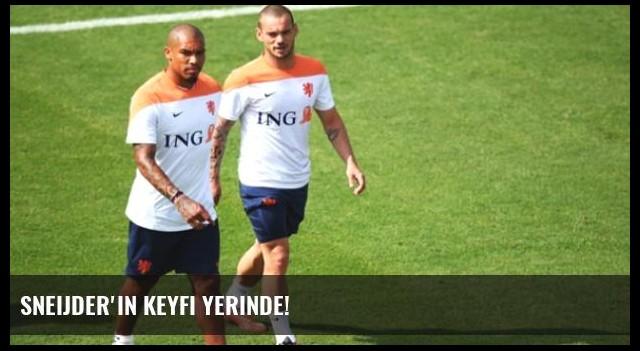 Sneijder'in Keyfi Yerinde!