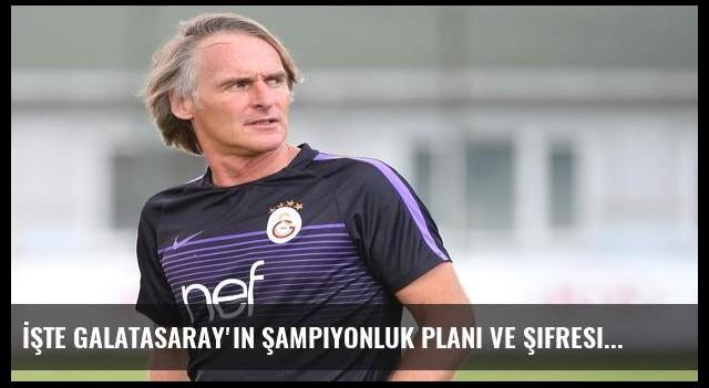 İşte Galatasaray'ın şampiyonluk planı ve şifresi!