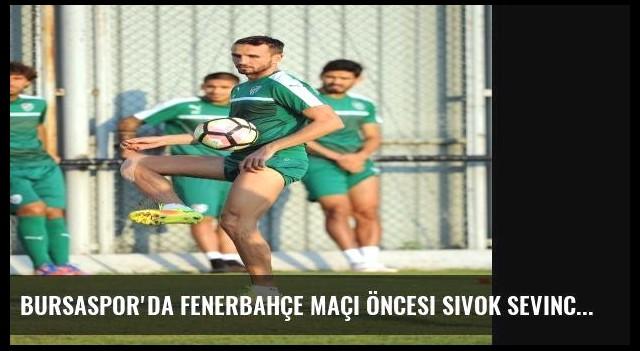 Bursaspor'da Fenerbahçe Maçı Öncesi Sivok Sevinci