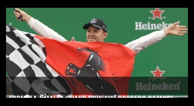 Formula 1 İtalya Grand Prix'sini Rosberg kazandı