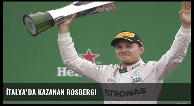 İtalya'da kazanan Rosberg!