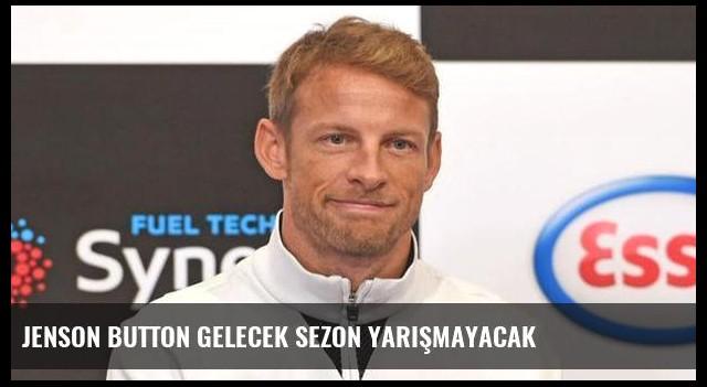 Jenson Button gelecek sezon yarışmayacak