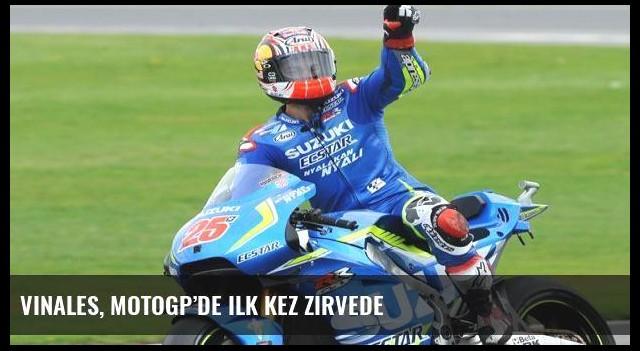 Vinales, MotoGP'de ilk kez zirvede