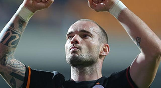 Wesley Sneijder'in dalya heyecanı!
