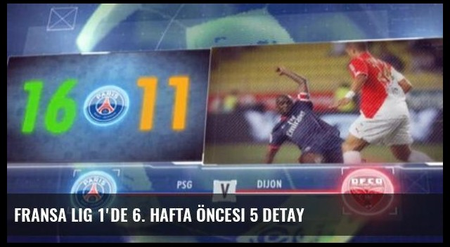 Fransa Lig 1'de 6. Hafta Öncesi 5 Detay