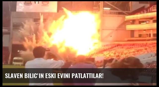 Slaven Bilic'in eski evini patlattılar!