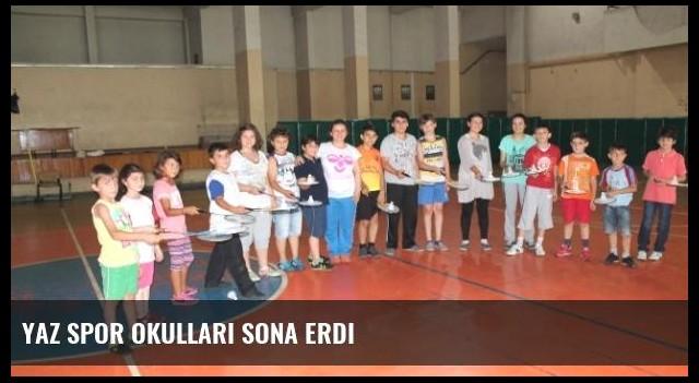 Yaz Spor Okulları Sona Erdi