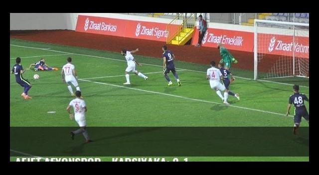 Afjet Afyonspor - Karşıyaka: 2-1