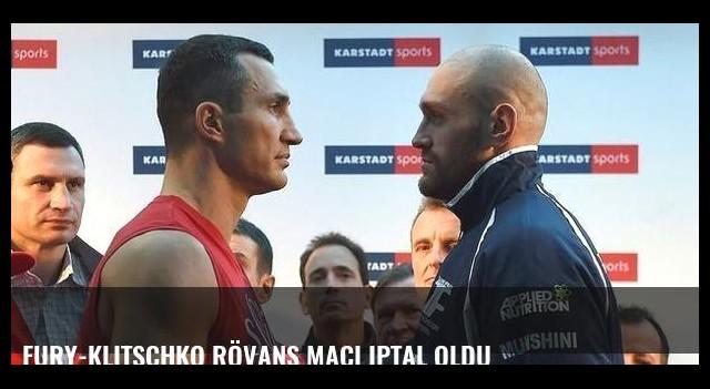 Fury-Klitschko rövanş maçı iptal oldu
