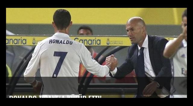 Ronaldo Zidane'a küfür etti!