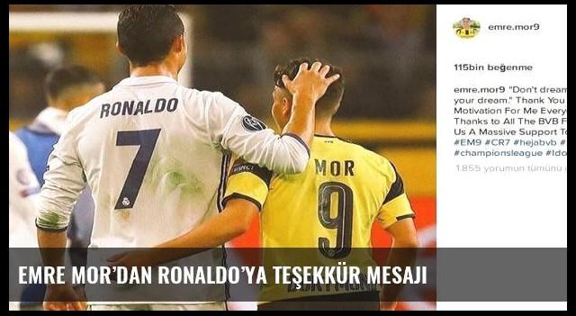 Emre Mor'dan Ronaldo'ya teşekkür mesajı