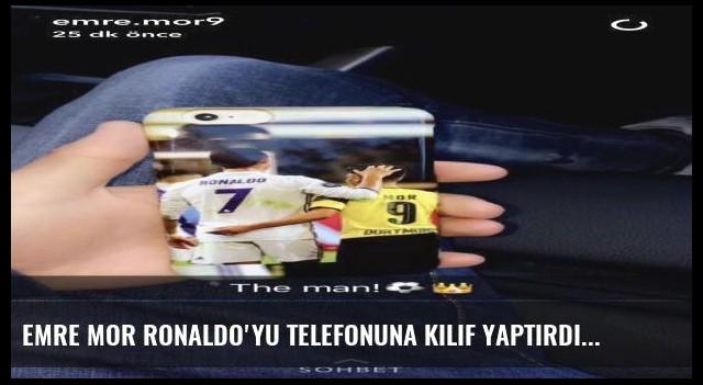 Emre Mor Ronaldo'yu telefonuna kılıf yaptırdı