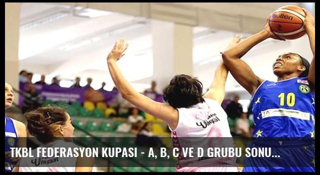 TKBL Federasyon Kupası - A, B, C ve D grubu sonuçları