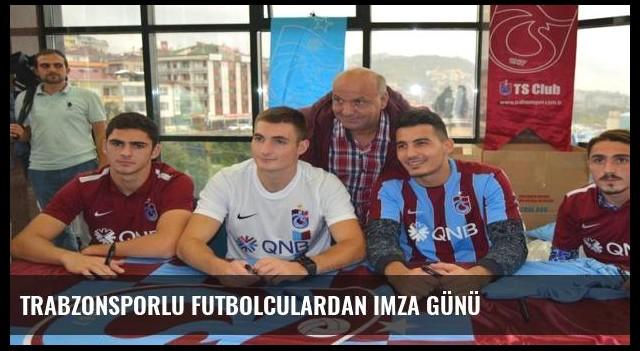 Trabzonsporlu futbolculardan imza günü